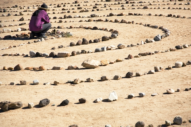 Labyrinth at Holotropic California in the Desert